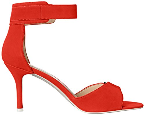 Red Women West Nine Gainey Heeled Synthetic Sandal Y6SYZFqn7