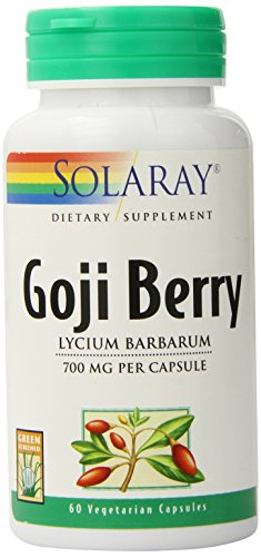 Solaray Goji Berry Capsules, 700 mg, 60 Count by Solaray