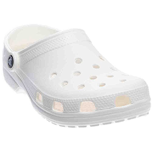 Adulto Unisex Crocs Zuecos Classic White Weiß tEEF7wq