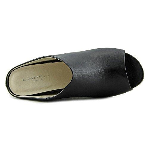 Kenneth Cole Women's Ian Leather Open Toe Wedge Mules Black BAatuIwBgN