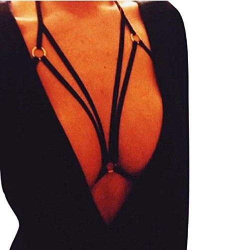 Photno Underwear, Womens Sexy Harness Bra Elastic Bra Strappy Hollow Out Bra Bustier