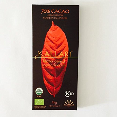 (Kallari Organic Dark Chocolate Bar 70% Cacao - 2.46 oz (Single)