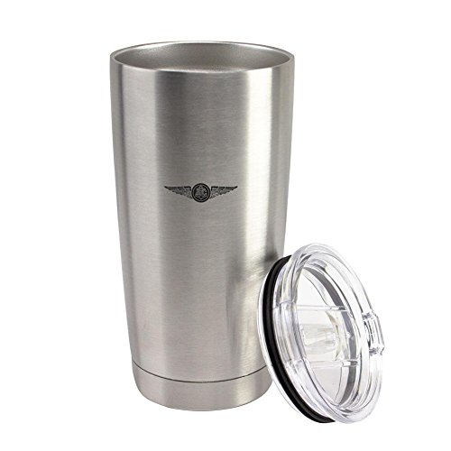 Navy Aircrew Badge Subdued Enlisted 20 oz Vacuum Sealed 18/8 Stainless Steel Tumbler