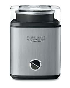 Cuisinart CIM-60PC Pure Indulgence Automatic Frozen Yogurt, Sorbet and Ice Cream Maker, 2 quart, Grey and Black