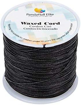 PandaHall Elite - Bobina de hilo de algodón encerado redondo para ...
