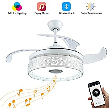 Sweety House 42 Quot Ceiling Fan With Light Smart Bluetooth