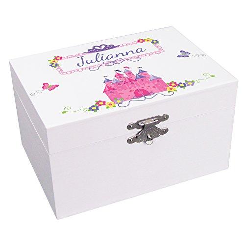 MyBambino Personalized Princess Castle Ballerina Jewelry Box