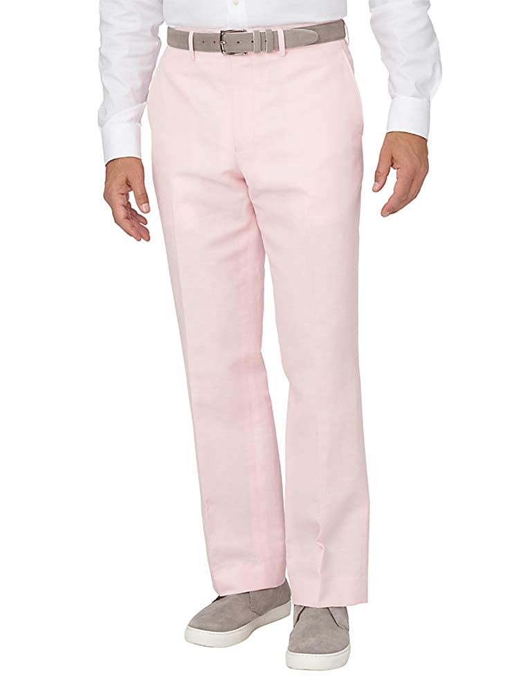 1950s Men's Clothing Paul Fredrick Mens Cotton Blend Flat Front Pant $135.00 AT vintagedancer.com