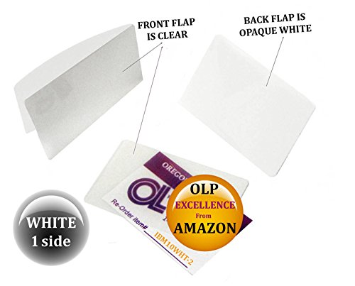 Oregon Lamination Hot Laminating Pouches IBM Card (pack of 200) 10 mil 2-5/16 x 3-1/4 White/Clear by Oregon Lamination Premium