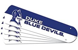Ceiling Fan Designers 7990-DKE New NCAA DUKE BLUE DEVILS 52 in. Ceiling Fan Blade Set