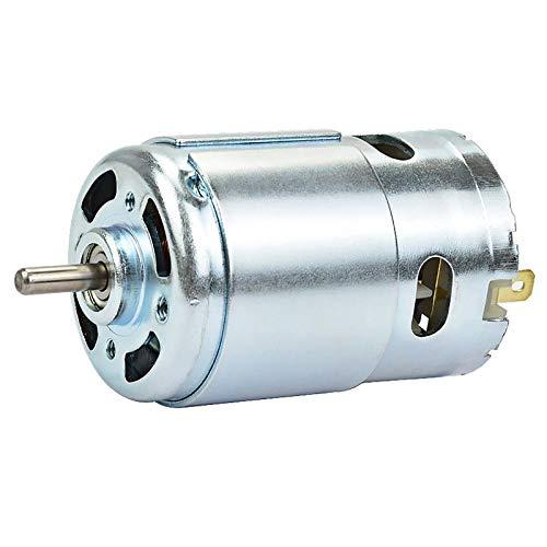 TOOGOO 895 Micro-Moto DC12-24V High Power Generator 15A 360W 12000rpm Double Ball Bearing 775 Upgrade DC Motor Large Torque (15a Motor Shaft)