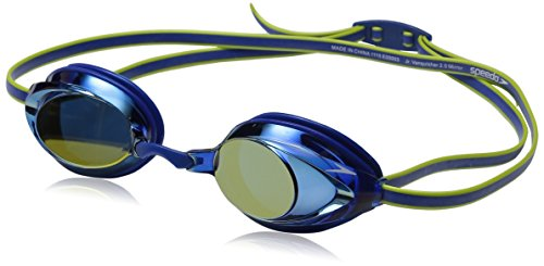 (Speedo Jr Vanquisher 2.0 Mirrored Swim Goggle, Blue, One Size)