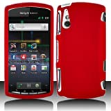 Red Hard Plastic Rubberized Case Cover for Sony Ericsson Xperia Play