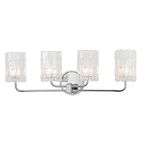 Dexter 4-Light Vanity Light - Polished Chrome Finish with Clear Glass -