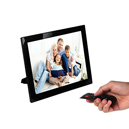 Digital Picture Frame 8 inch Digital Photo Frame Electronic Pictures Frame Photos Slideshow Videos Player, HD Panel 1024×768 Hi-Res TFT LED Screen, 4GB Internal Memory & Remote Control (Black)