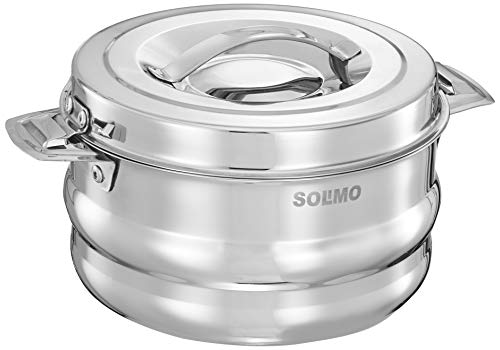 Amazon Brand – Solimo Galaxy Insulated Stainless Steel Serving Casserole with Lid (1.5L)