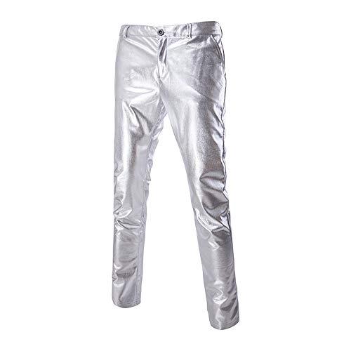 Caldo Costumi Pantaloni xxl Lucido Sexy Maschi Tempo Stampa A Xsqr silver Pantaloni Libero wR4g6Yq