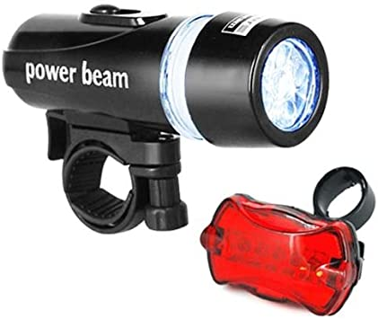 DIGIFLEX Luz de Bicicleta de 5 LED Delantera y luz Trasera ...