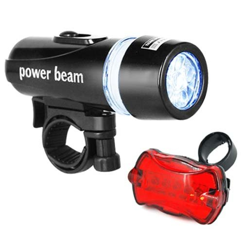 Digiflex Bicycle LED Head Lights - Front and Rear - 6 Modes for Night Safety