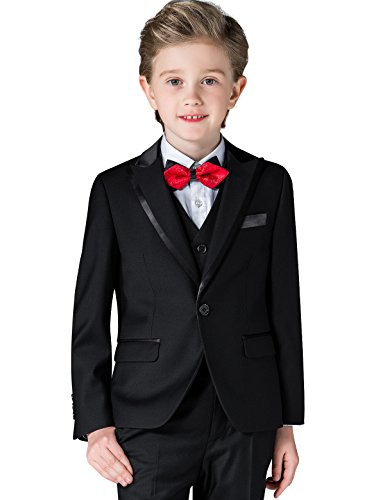 ELPA ELPA Boys Slim Fit Formal Suit Set 6 Piece Single Breasted Peaked by ELPA ELPA
