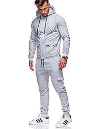 BEHYPE Men's Tracksuit Basic Jogging Pants + Sweatshirt Jacket R-972