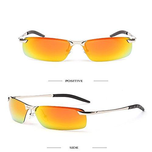 2018 hombres polarizadas 3043 blanca de moda Marco de de Plata Verde Rojo plateado deportivas sol morado sombreado pesca última sol gafas Enmarcado gafas unidad Naranja Aiku En de nariz AqHd0A