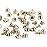 Screw Cone Spikes Studs 50 Sets 6mm Punk Rock