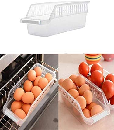 Space Saving Drawer Refrigerator Egg Storage Box Food Container Organizer
