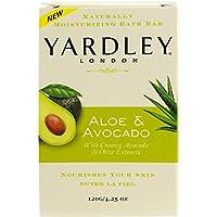 Yardley London Aloe & Avocado Naturally Moisturizing Bath Bar, 4.25 oz