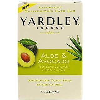 Yardley London Aloe & Avocado Naturally Moisturizing Bath Bar, 4.25 ounce