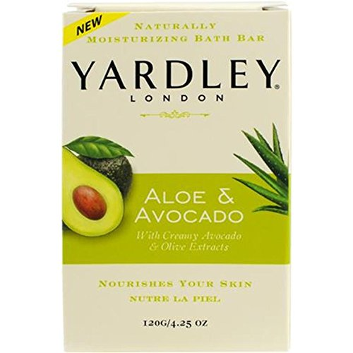 Yardley London Aloe & Avocado Naturally Moisturizing Bath Bar, 4.25 ounce