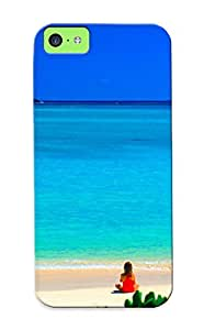 New Tpu Hard Case Premium Iphone 5c Skin Case Cover(beach)