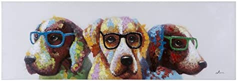 Yosemite Home Decor Cool Dogs, Multicolor