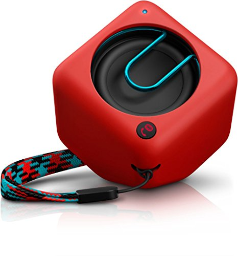 Philips BT1300R/00 – Altavoz portátil con Bluetooth (2 Watt, Microfono), rojo