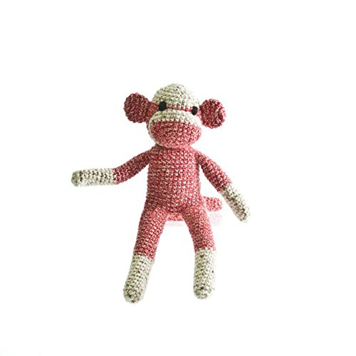 [The Monkey Project Handmade Red Sock Monkey Doll] (Sock Puppet Costume Monkey)
