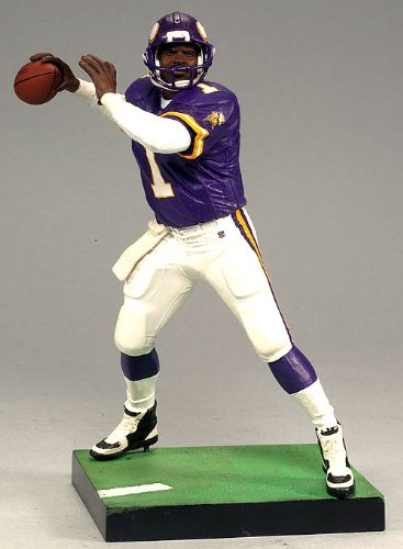McFarlane Toys NFL Sports Picks Legends Series 6 Action Figure Warren Moon (Minnesota Vikings) Purple Jersey Bronze Collector Chase (Mcfarlane Series Nfl Legends)