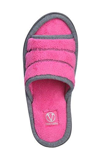 Joan Vass Dames Comfort Open Teen Glitters Teen Badstof Glijbaan Slipper Roze