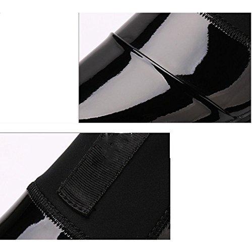 Pelle Casual NIUMJ Britanniche Autunno Moda Rotonda Scarpe all'Usura da Singole Uomo Resistenti Scarpe Set Gold in Scarpe Testa Scarpe Foot 8vrnxEqvYw