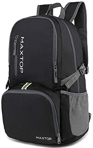 MAXTOP Ultra Lightweight Packable Backpack 35L Water Resistant Foldable Hiking Travel Daypack Durable ()