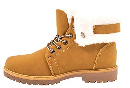 Elara - botas estilo motero Mujer amarillo