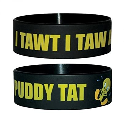 Looney Tunes Wristband Tweety Puddy Tat in One Size Estimated Price -