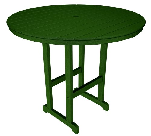 Round 48 Inch Bar - POLYWOOD RBT248GR Round Bar Table, 48-Inch, Green
