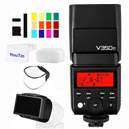 Godox V350F TTL Camera Flash 2.4G HSS 1/8000s Flashlight with Li-ion Battery Flashes Compatible Fujifilm Cameras GFX50S X-Pro2 X-T20 X-T2 X-T1 X-Pro1 X-T10 X-E1 X-A3 X100F