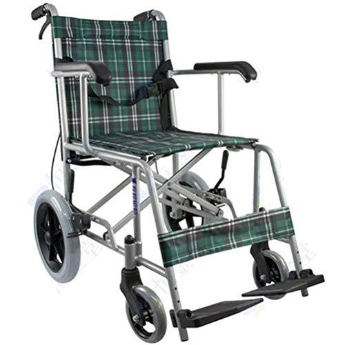 NKDK Wheelchair Aluminum Alloy Manual Wheelchair Senior Wheelchair Lightweight Folding Wheel