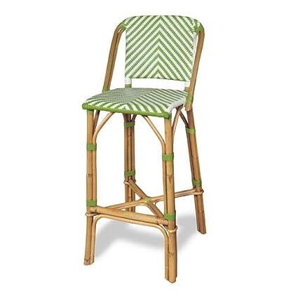 Progressive Furniture A146 42G Rum Point Rattan Bar Stool, Green