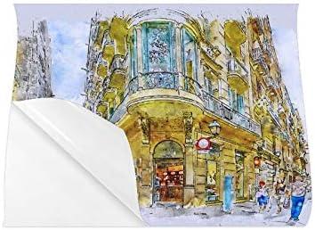 YXUAOQ Frauenplakat Barcelona Street Gotisches Viertel Spanien Architektur Benutzerdefiniertes Poster Frauenplakat 20x16 Zoll Wandkunstdruck Große Home-Office-Raumdekoration