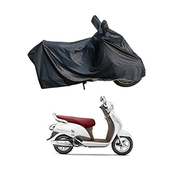 RiderShine Waterproof Scooty/Scooter/Bike Body Cover Double Mirror Pocket with Over Lock Protection for Suzuki Access