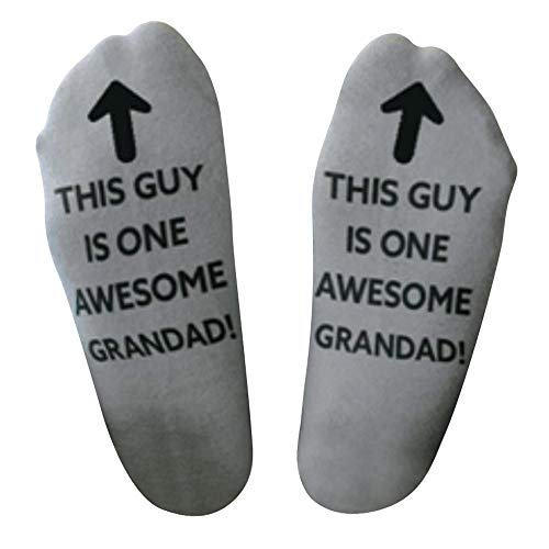 Clearance Men 'Awesome Dad' Father Gift Letter Print Funny Mid Short Socks Duseedik
