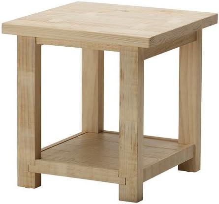 IKEA REKARNE - Mesa auxiliar, pino - 55x55 cm: Amazon.es: Hogar