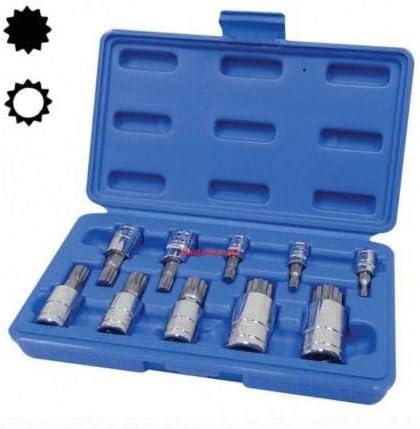 Insert Bits T/&E Tools CL145-1 5 Piece Triple Square Multi-Spline